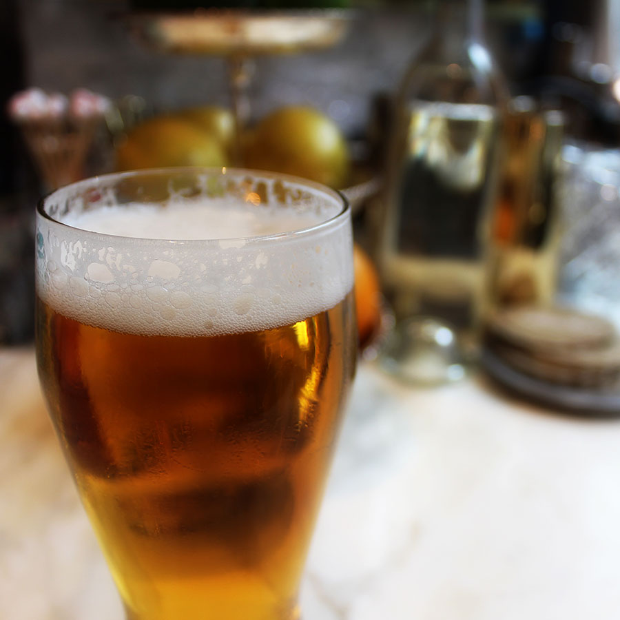pilsner on bar